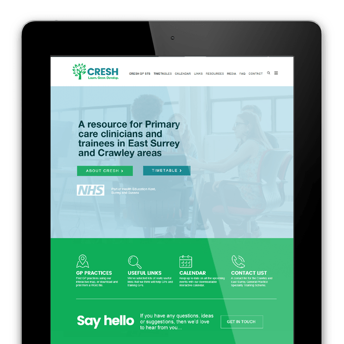 Web design and Logo design for CRESH - Crawley and East Surrey