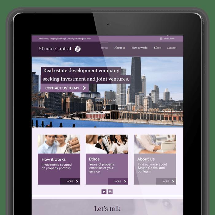 Struan Capital website example