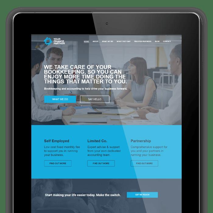 Your Finance Partner Dorking - website and logo design